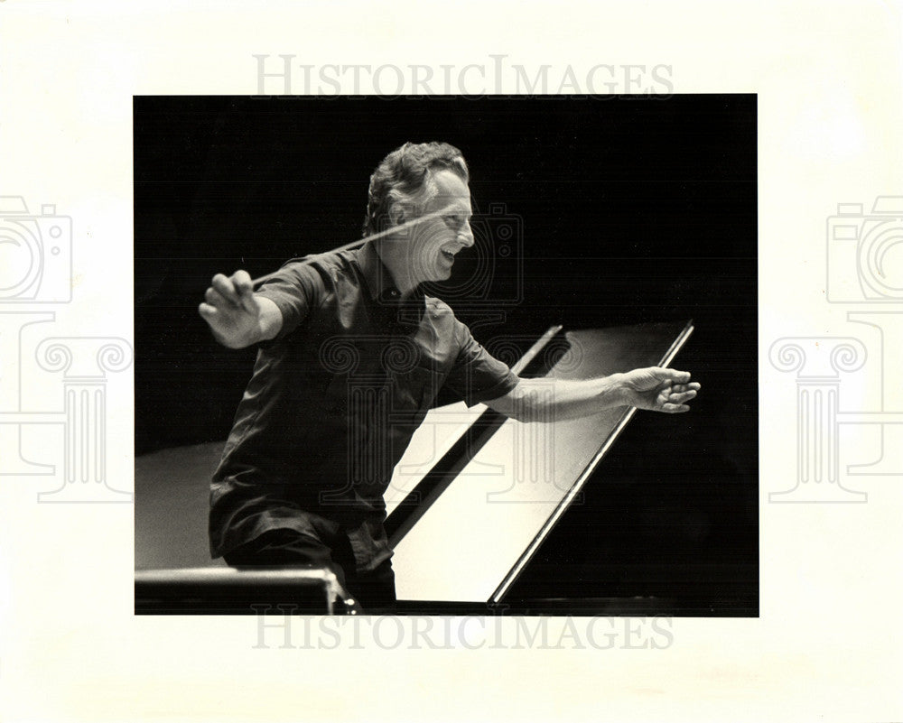 1984 Press Photo Detroit Symphony Orchestra Herbig - Historic Images
