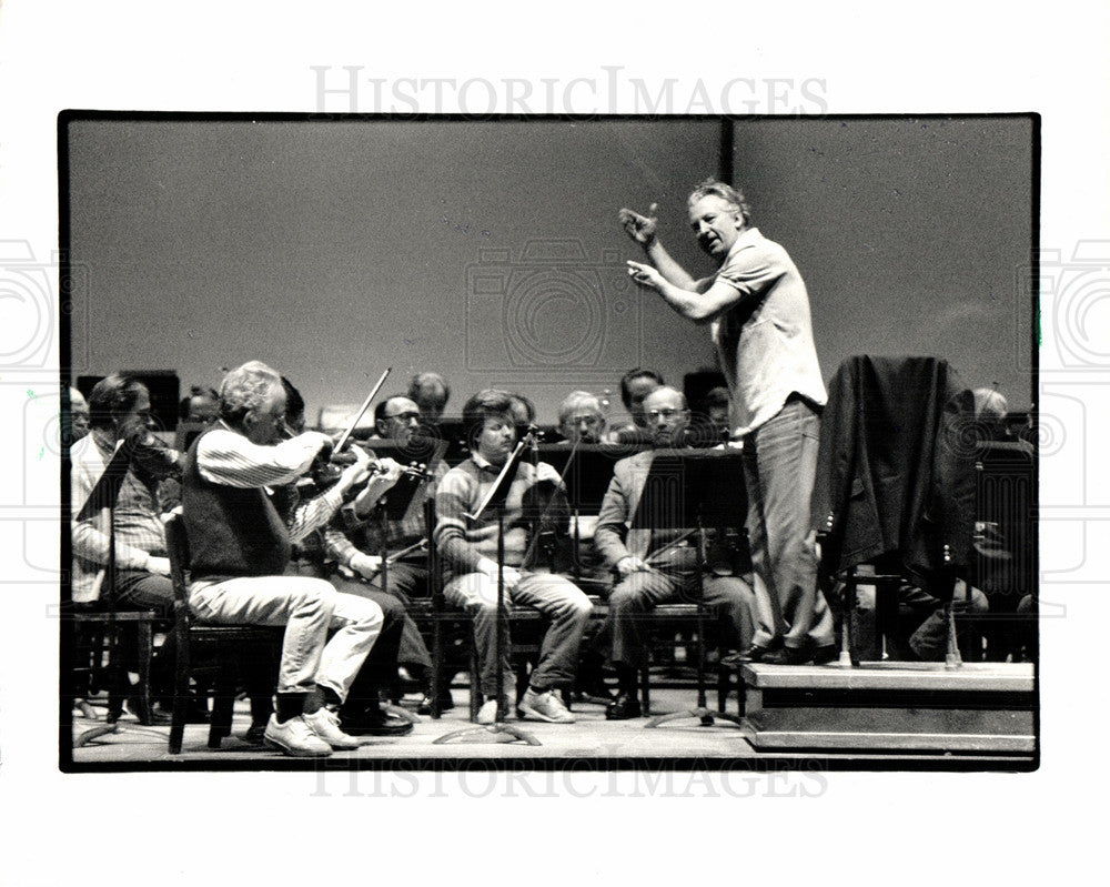 1987 Press Photo Detroit Symphony Orchestra Herbig - Historic Images