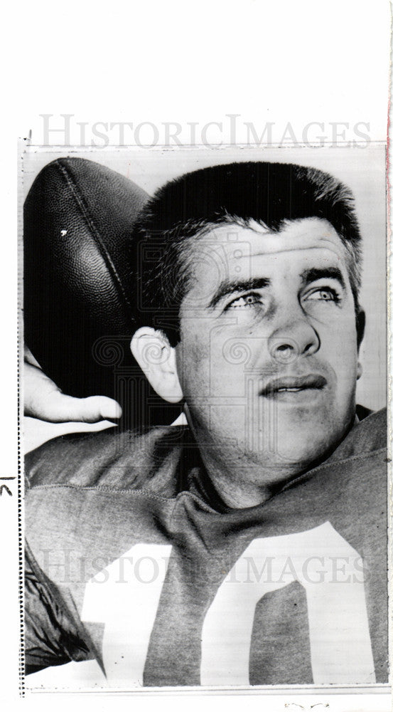 1963 Press Photo Stuart King Hill NFL quarterback - Historic Images