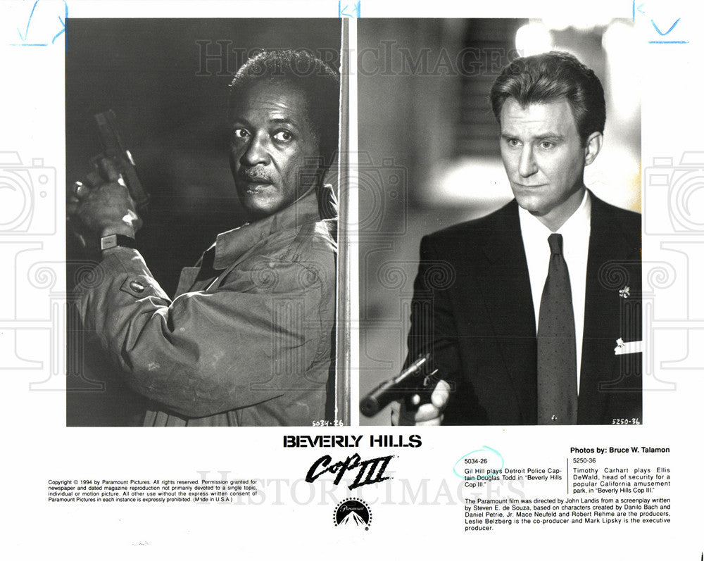 1994 Press Photo Gil Hill Police Officer Parttime Actor - Historic Images
