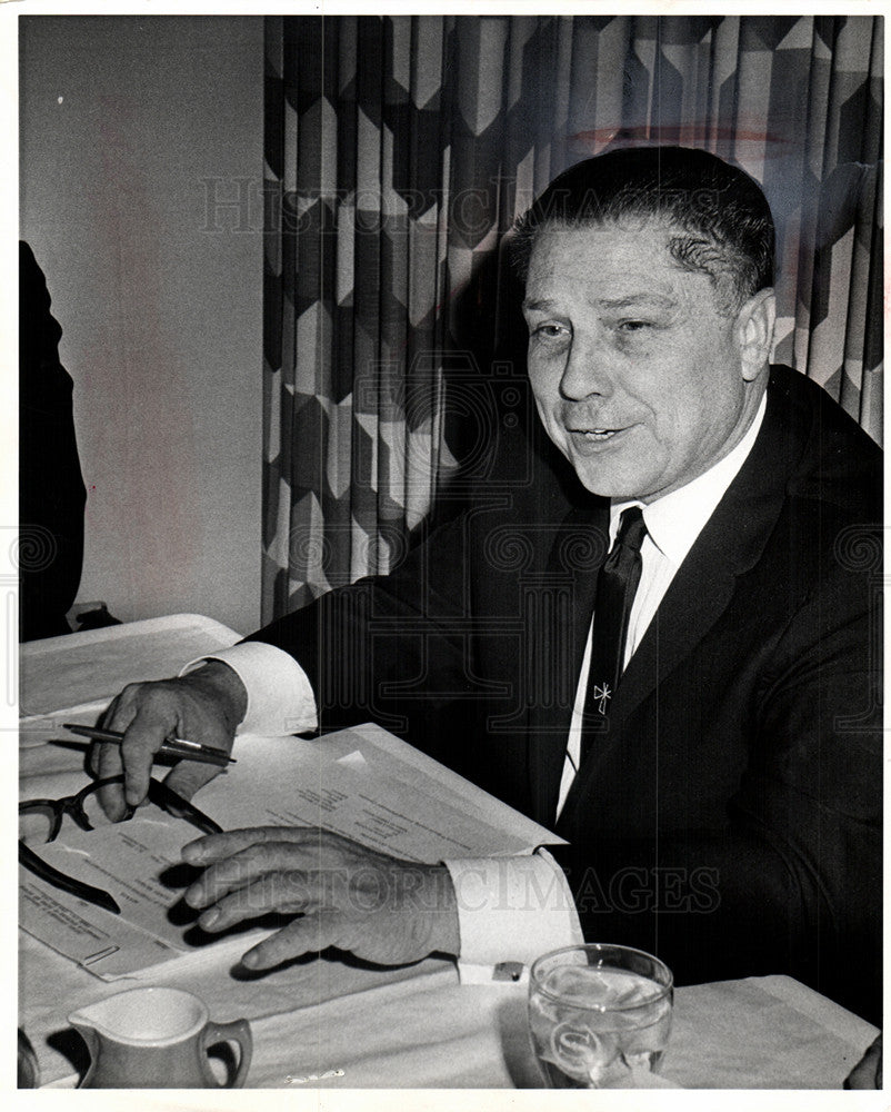 1966 Press Photo Jimmy Hoffa Labor Union Teamsters - Historic Images