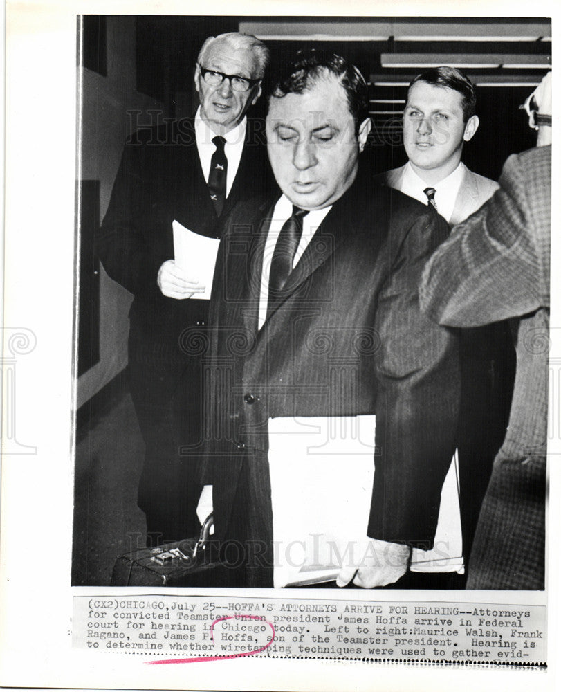 1967 Press Photo James Hoffa's Attorneys Maurice Walsh