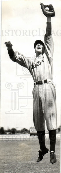 1935 Press Photo Detroit Tigers Baseball Dixie Howell - Historic Images