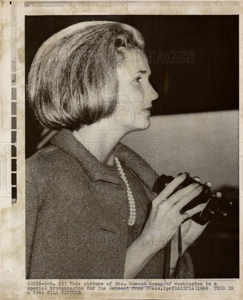 1969 Press Photo Mrs.Edmond Howar, Washington - Historic Images