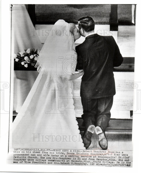 1966 Press Photo Robert Humphrey Donna Erickson wedding - Historic Images