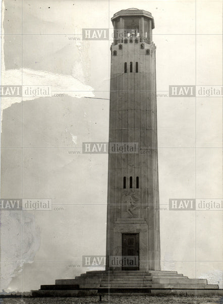 1930 Press Photo Livingston Lighthouse Belle Island - Historic Images