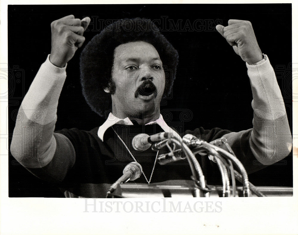 1976 Press Photo Jesse Jackson American civil rights - Historic Images