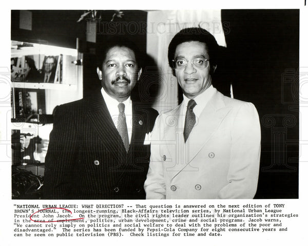 1983 Press Photo John Jacob, National Urban League - Historic Images