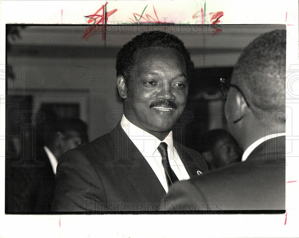 1987 Press Photo Jesse Jackson American civil rights - Historic Images