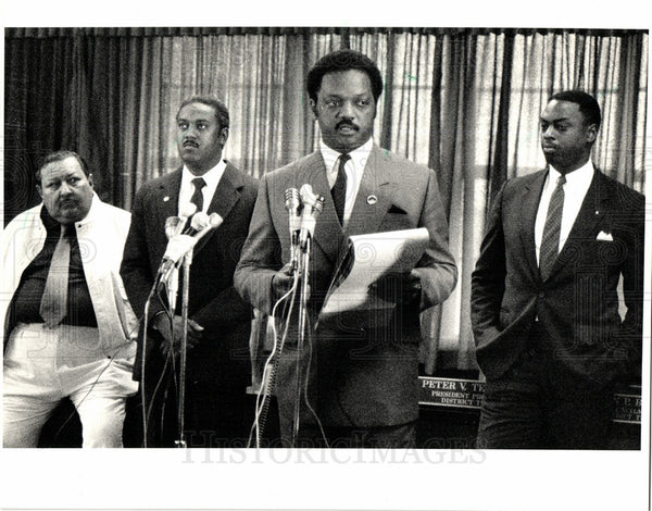 1987 Press Photo Jesse Jackson, activist, speech - Historic Images