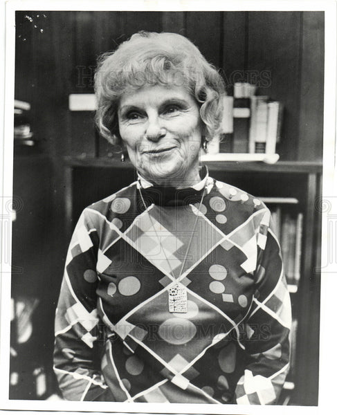 Press Photo Mildred Jeffrey political activist UAW - Historic Images