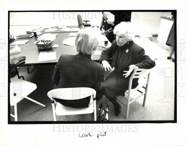 1993 Press Photo Mildred Jeffrey political activist UAW - Historic Images