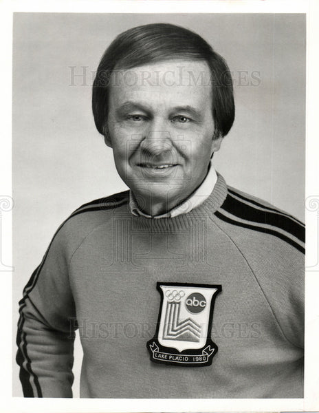 1980 Press Photo Jim McKay sports journalist olympics - Historic Images