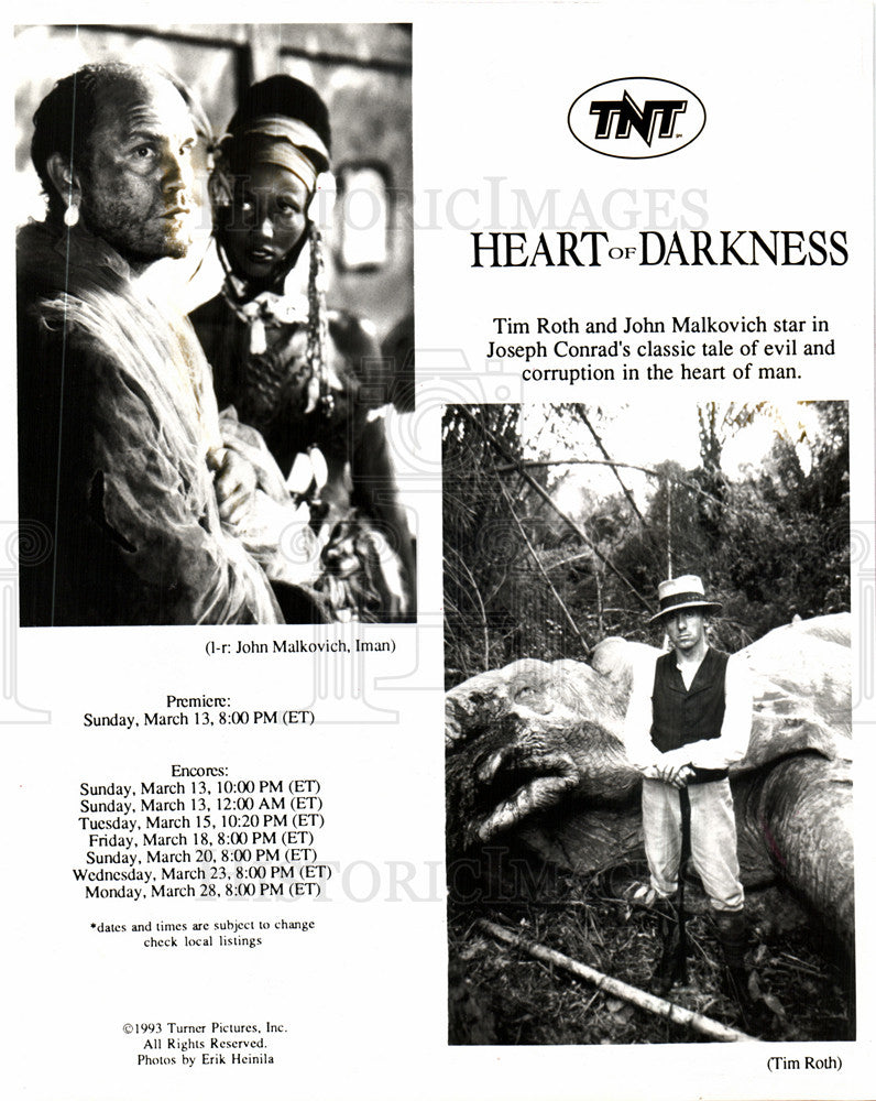 1994 John Malkovich Heart Darkness Tim Roth Historic Images