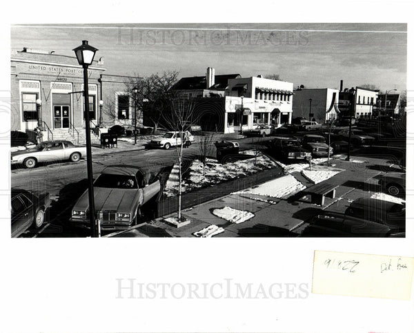 1983 Press Photo Downtown Plymouth Michigan - Historic Images
