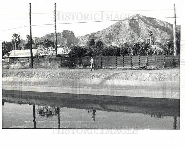 1982 Press Photo Salt River Project Arizona Canal - Historic Images