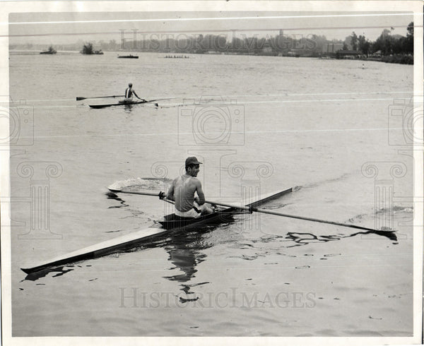 1950 Press Photo rowing sport college Olympics - Historic Images