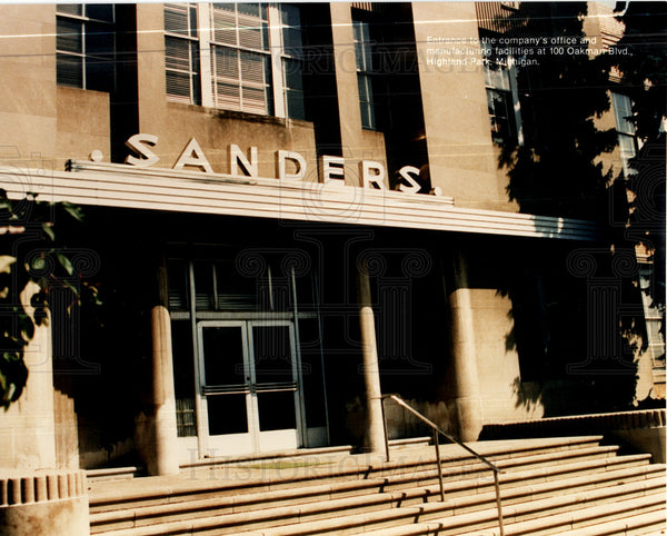 1990 Press Photo Sanders United States Detroit - Historic Images