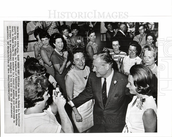 1968 Press Photo New York Governor Nelson A Rockefeller - Historic Images