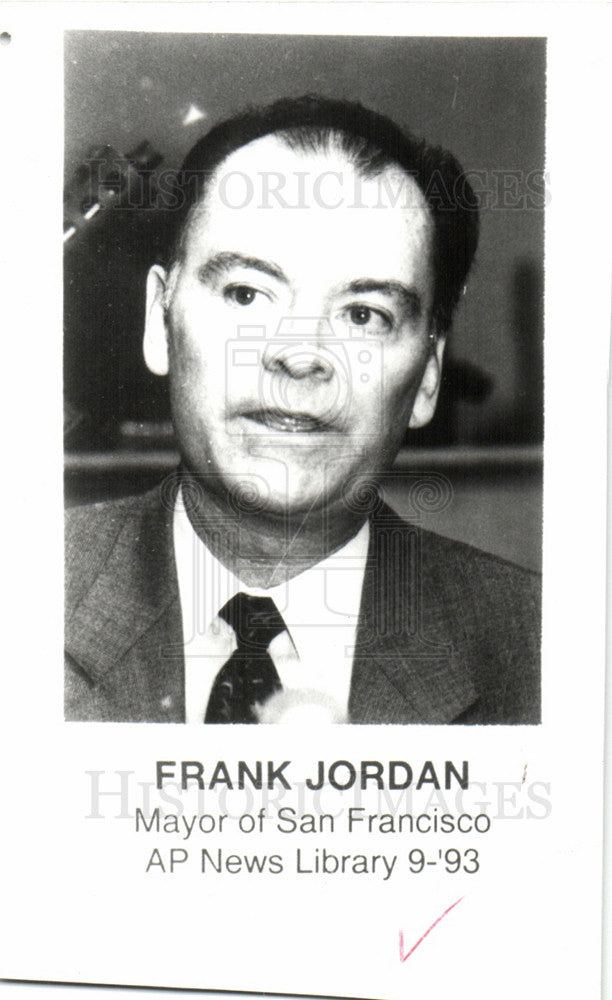 Press Photo Frank Jordan Mayor - Historic Images