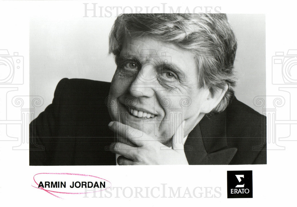 Press Photo Armin Jordan Swiss conductor - Historic Images