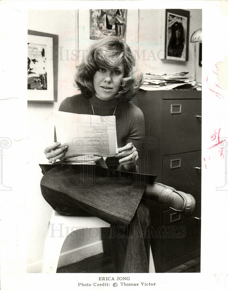 1978 Press Photo Erica Jong Serinissisms Venice - Historic Images