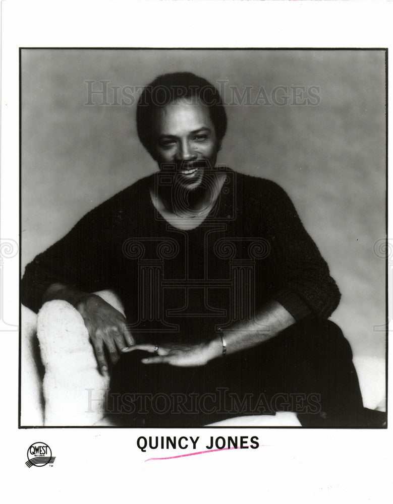 1987 Press Photo Quincy Jones - Historic Images