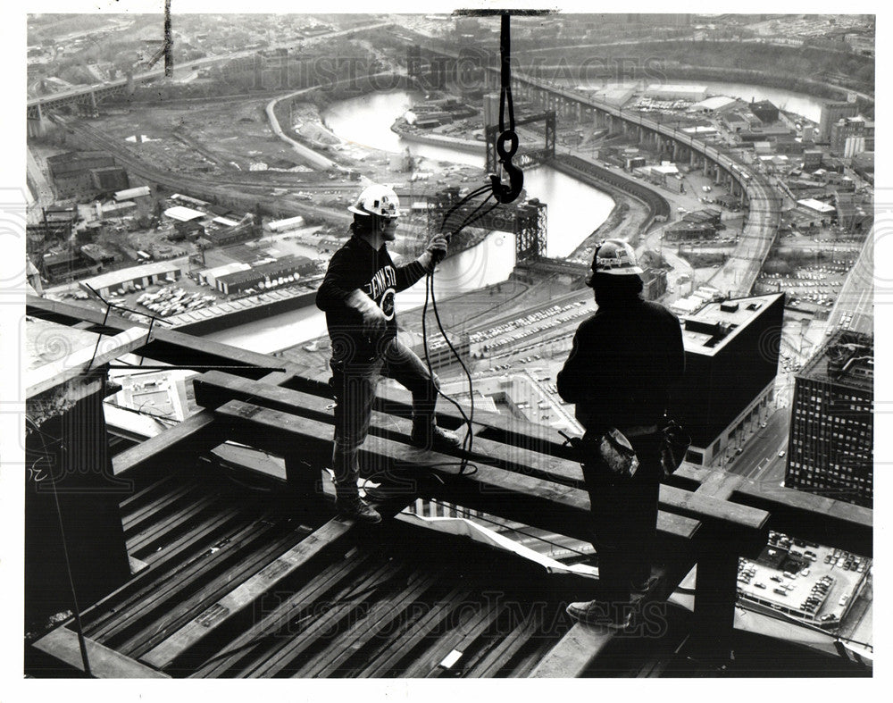 1994 Press Photo skyscrapers construction Cleveland - Historic Images