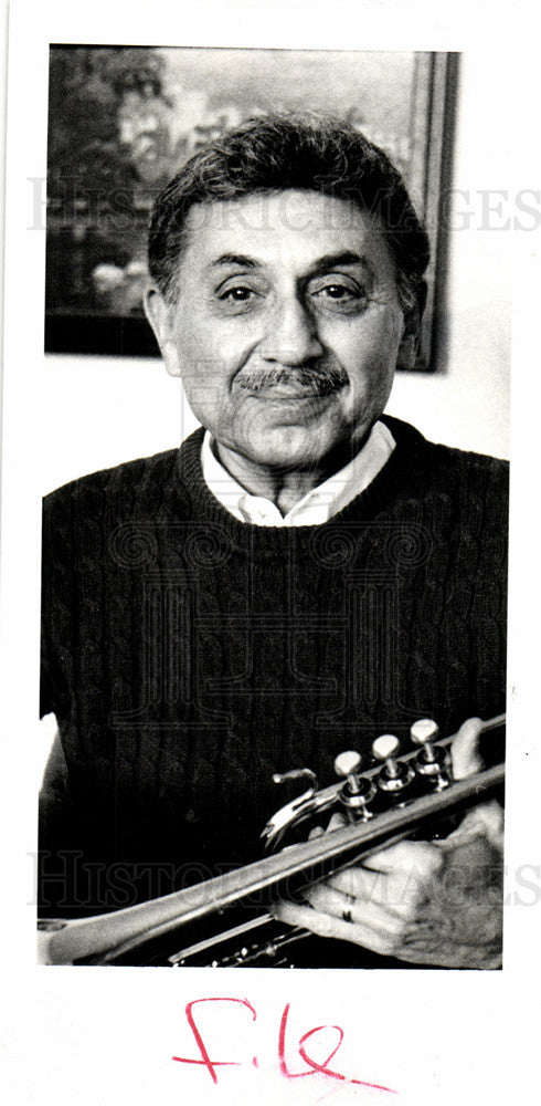 1986 Press Photo Trumpet Player Irving Kalb - Historic Images