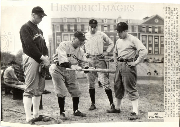 1937 Press Photo Joe Judge Baseball - Historic Images