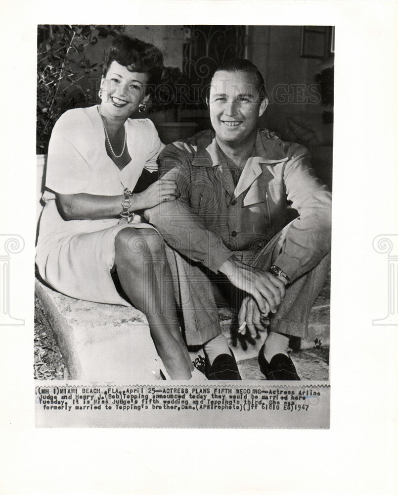 1947 Press Photo Actress Arline Judge Henry J. Tepp - Historic Images
