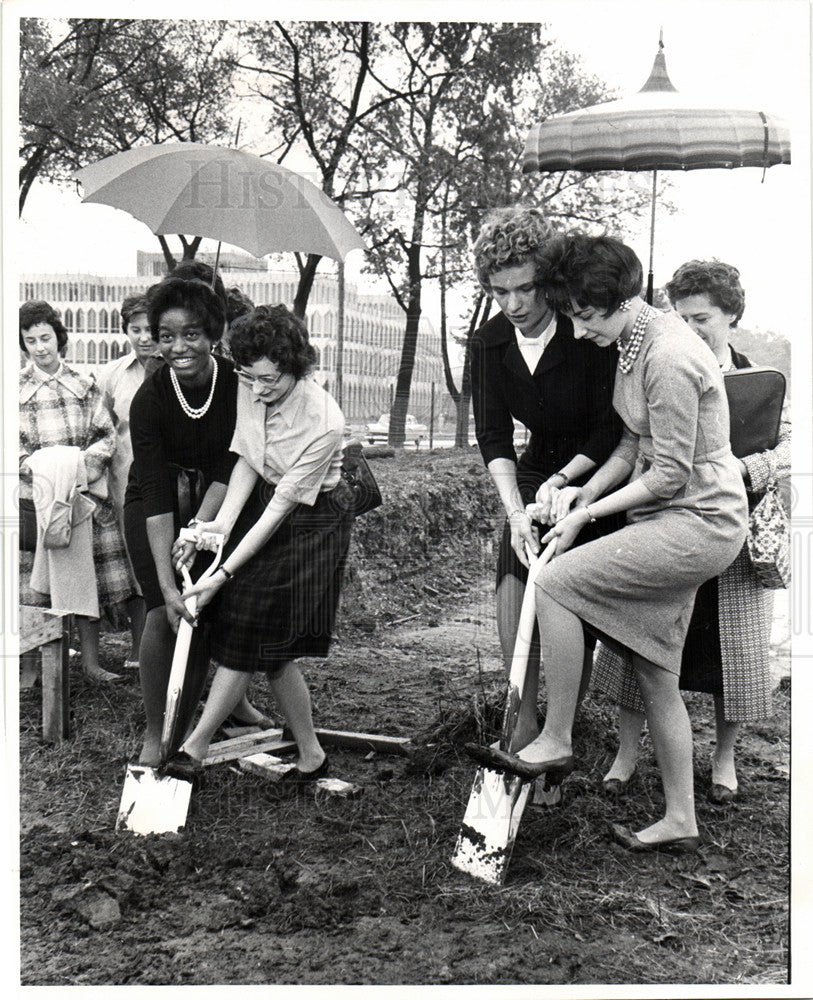 1962 Press Photo Wayne State University groundbreaking - Historic Images