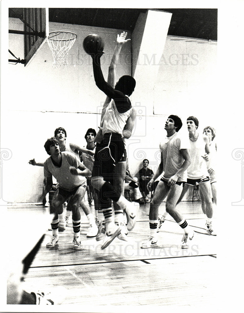 Press Photo Basketball Star Antoine Joubert - Historic Images