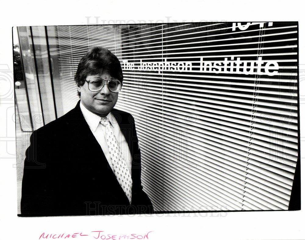 1990 Press Photo Michael Josephson, Ethic Institute - Historic Images
