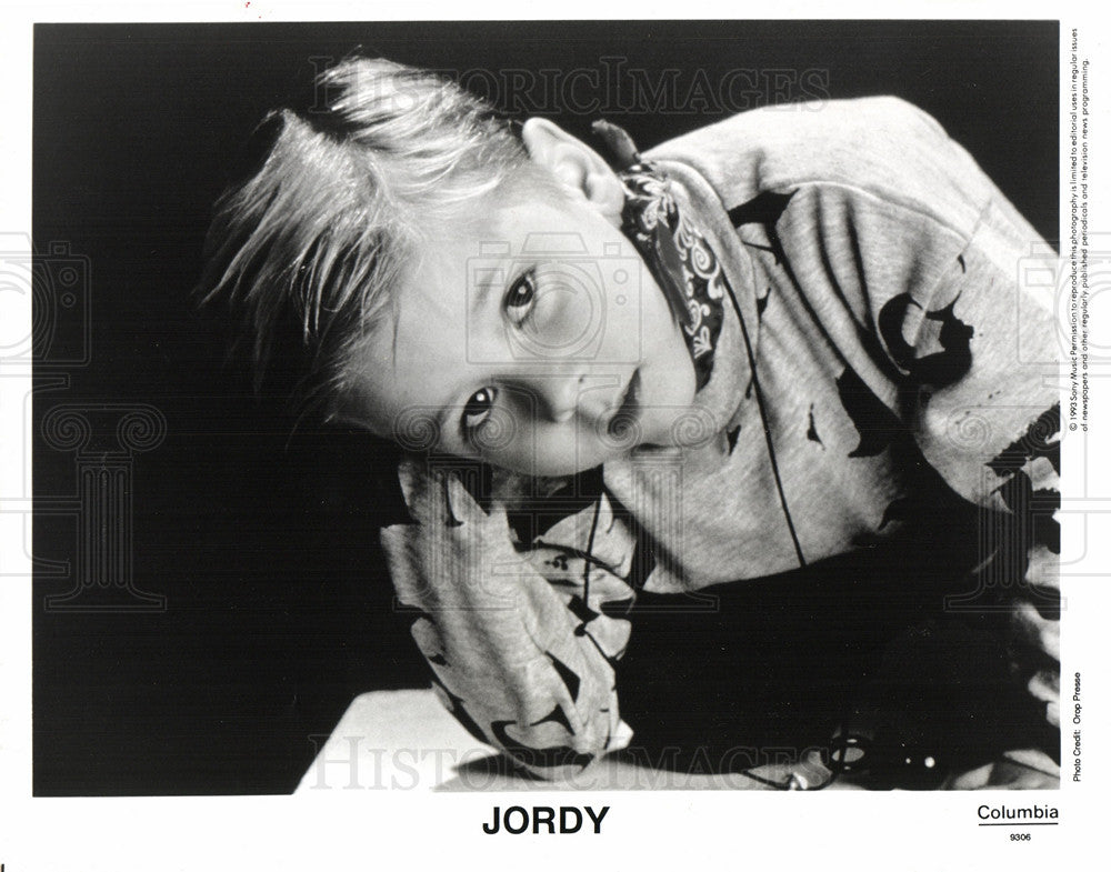 1998 Press Photo Jordy French young singer - Historic Images