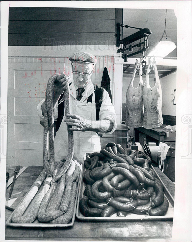 1976 Press Photo sausage food - Historic Images