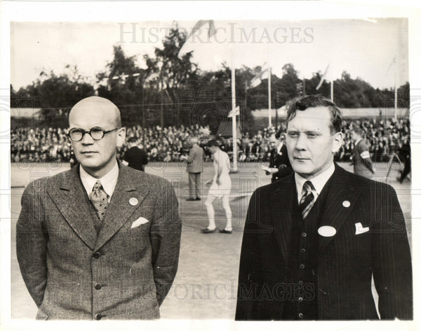1938 Press Photo Urho Kaleva Kekkonen aku kuusisto. - Historic Images
