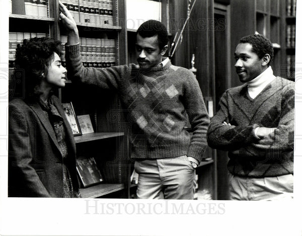 Press Photo Renee Chenault Claude Bailey Jerry Har - Historic Images