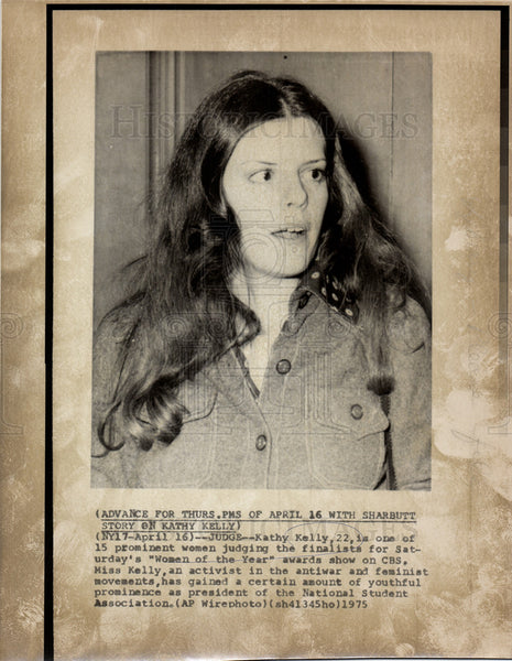 Press Photo Kathy Kelly American peace activist - Historic Images