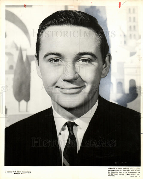 1963 Press Photo Tommy Kirk - Historic Images