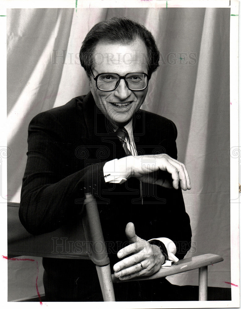 1991 Press Photo Larry King American TV Radio Host - Historic Images