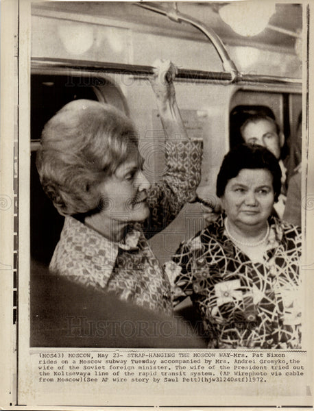 1972 Press Photo Pat Nixon First Lady USA Nevada - Historic Images