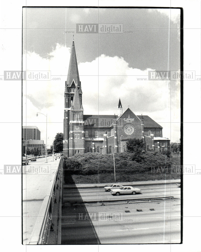 1981 Press Photo St. Josaphat's Catholic Church Dolot - Historic Images