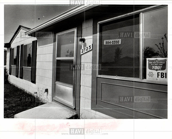 1974 Press Photo Stoneybrook housing development house - Historic Images