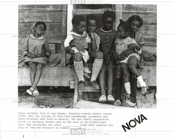 Press Photo Children Lee County Arkansas Poverty - Historic Images