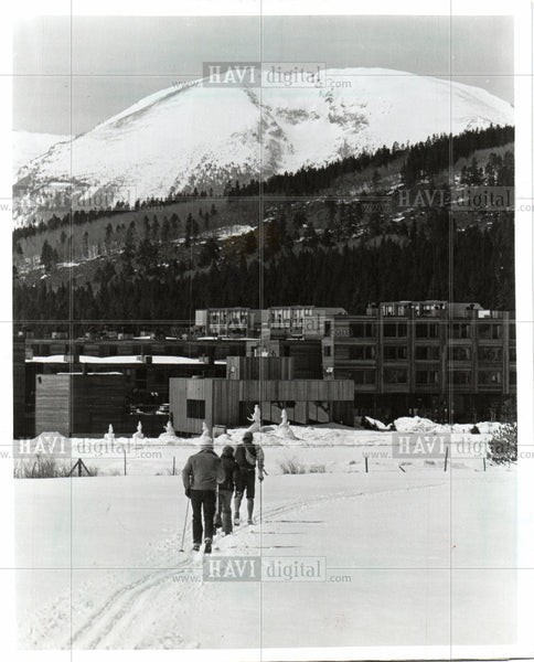 1986 Press Photo cross-country skiing Colorado Keystone - Historic Images