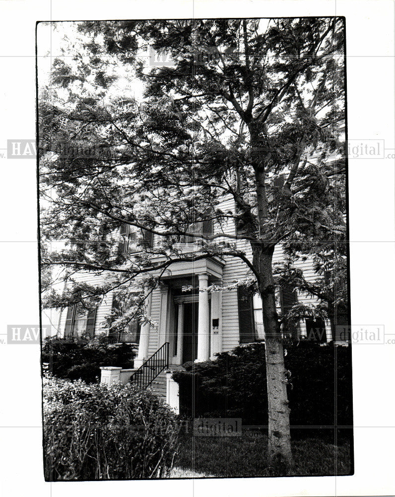 1985 Press Photo sibley house detroit michigan - Historic Images