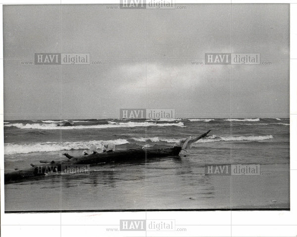 Press Photo Great Lakes Michigan Lake Shoreline - Historic Images