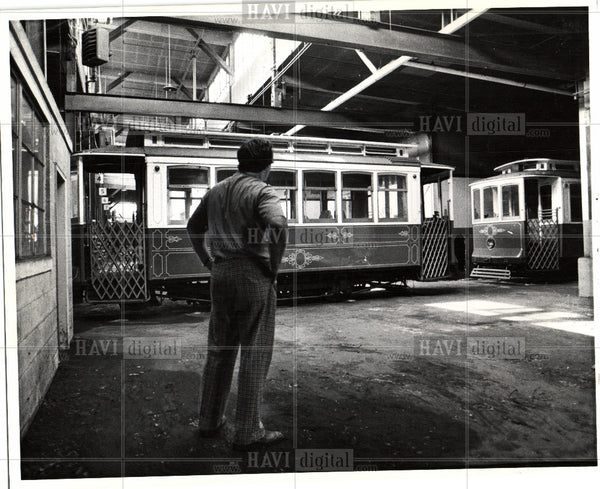 1975 Press Photo Trolley cars - Historic Images