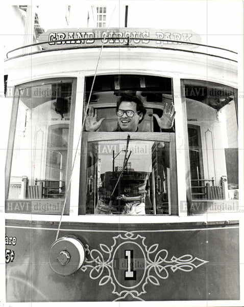 1976 Press Photo Trolley - Historic Images